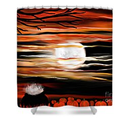 October 31st - Samhain Skies Shower Curtain