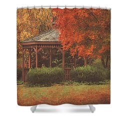 October At Deer Path Park Shower Curtain