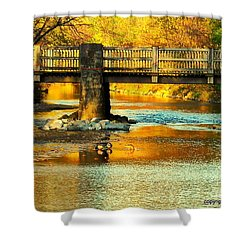 October At Robin Hood Dell Shower Curtain