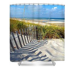 Shower Curtain featuring the photograph October Beach by Dianne Cowen
