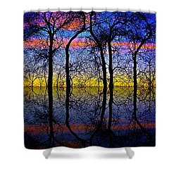 October Dusk  Shower Curtain by Chris Berry