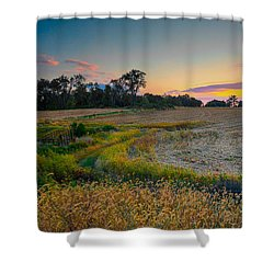 October Evening On The Farm Shower Curtain