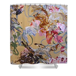 Shower Curtain featuring the painting October Glow 1 by Nancy Kane Chapman