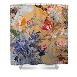 Shower Curtain featuring the painting October Glow 2 by Nancy Kane Chapman