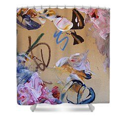 Shower Curtain featuring the painting October Glow 3 by Nancy Kane Chapman