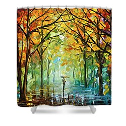 October In The Forest Shower Curtain by Leonid Afremov