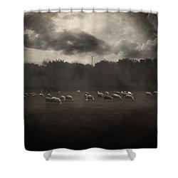 October Insight Shower Curtain by Taylan Apukovska