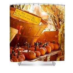October Market Shower Curtain by Jim Garrison