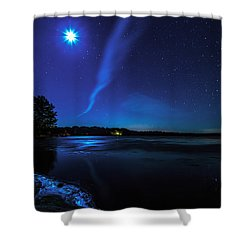 October Moon Shower Curtain by Everet Regal