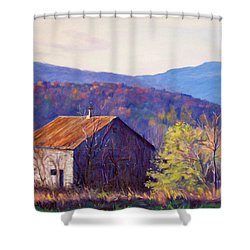 October Morning Shower Curtain by Bonnie Mason