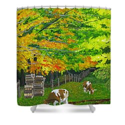 October Pasture Shower Curtain