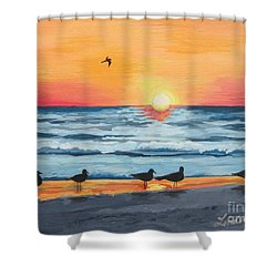October Sunset On Siesta Key Florida Shower Curtain