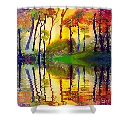 October Surprise Shower Curtain