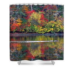 Shower Curtain featuring the photograph October's Colors by Dianne Cowen