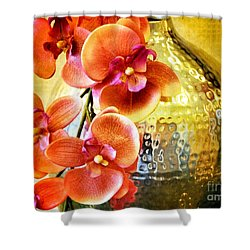October's Orchids Shower Curtain by Darla Wood