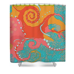 Octopus 1 Shower Curtain by David Klaboe