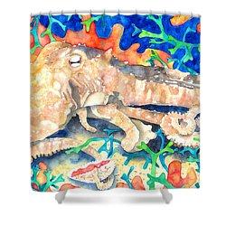 Octopus Delight Shower Curtain