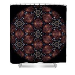 Octopus Mandala Shower Curtain by Karen Buford