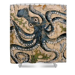 Octopus - Study No. 2 Shower Curtain by Steve Bogdanoff