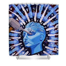 Ocular Migraine Shower Curtain by Vicki Maheu