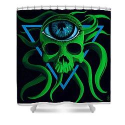 Ocupus Shower Curtain by Steve Hartwell