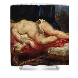 Odalisque Shower Curtain by Ferdinand Victor Eugene Delacroix