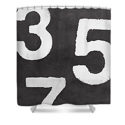 Odd Numbers Shower Curtain