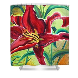 Oddly Twisted Shower Curtain by Shannan Peters