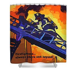 Ode To Our Heros Shower Curtain by John Malone