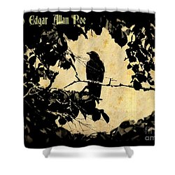 Ode To Poe Shower Curtain by John Malone