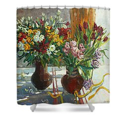 Of Bouquets Plexus Shower Curtain