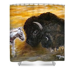 Shower Curtain featuring the painting Of Proud Heritage by Barbie Batson