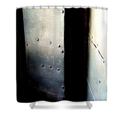 Shower Curtain featuring the photograph Of Shadow And Intent by Newel Hunter