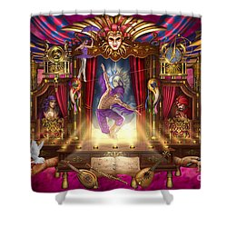 Off Broadway Shower Curtain by Ciro Marchetti