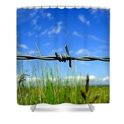 Shower Curtain featuring the photograph Off Limits by Nina Ficur Feenan