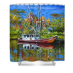 Off Season Shower Curtain by Dianne Parks