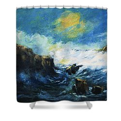 Off Shore Breakers At Dusk Shower Curtain