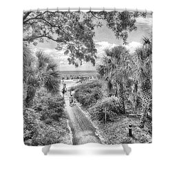 Shower Curtain featuring the photograph Off To The Beach by Howard Salmon