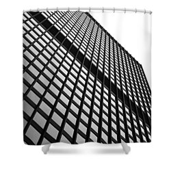 Office Building Facade Shower Curtain by Valentino Visentini