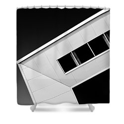 Office Corner Shower Curtain by Dave Bowman