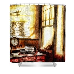 Office Shower Curtain by Mo T