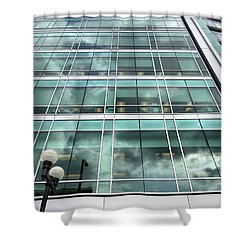 Office View Shower Curtain by Dan Sproul