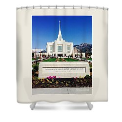 Ogden Temple 1 Shower Curtain by Richard W Linford