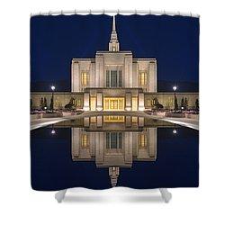 Ogden Temple Reflection Shower Curtain by Dustin  LeFevre