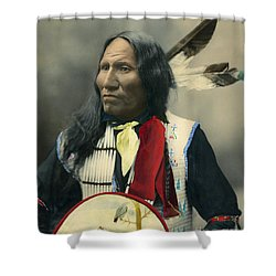 Oglala Chief Strikes With Nose 1899 Shower Curtain