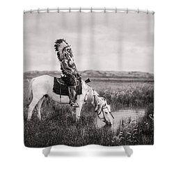 Oglala Indian Man Circa 1905 Shower Curtain