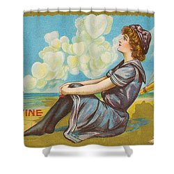 Oh Be My Valentine Postcard Shower Curtain by American School