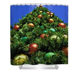 Shower Curtain featuring the photograph Oh Christmas Tree by Kathy Churchman
