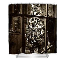 Oh Christmas Tree - Sepia Shower Curtain