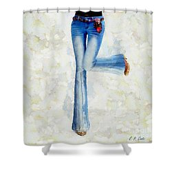 Shower Curtain featuring the painting Oh Happy Day by Elizabeth Coats